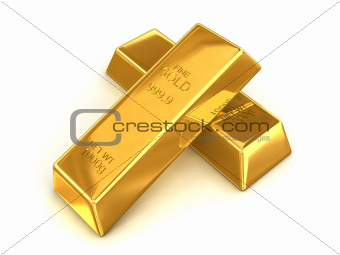 Pair of golden bars