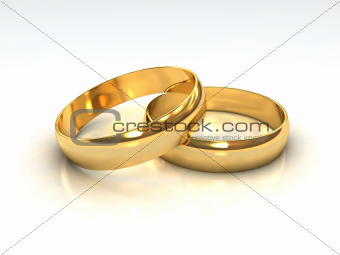 Layered Golden Wedding Rings