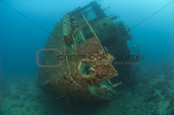 Stern section of a shipwreck