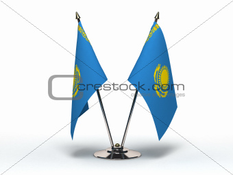 Miniature Flag of Kazakhstan (Isolated)