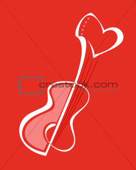 Guitar with heart shape
