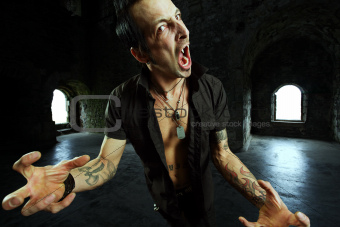Male vampire attack