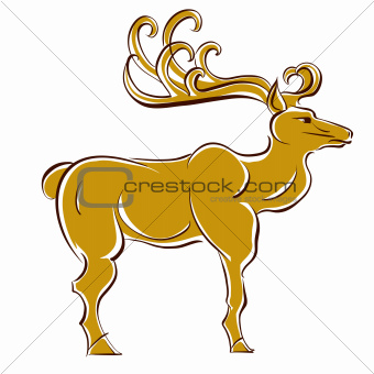 Deer vector illustration.