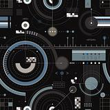Engineering draft seamless pattern.