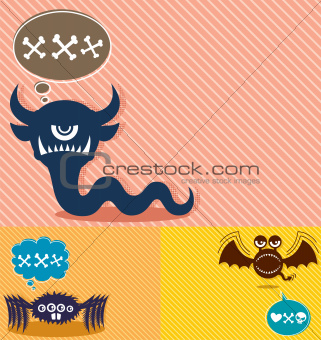Monster Backgrounds 4