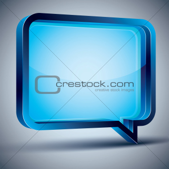 Speech bubble 3d modern style.