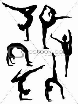 Image 4730476 Girls Gymnasts Silhouettes From Crestock Stock Photos