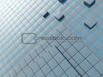 Abstract background from a modern construction material of dark blue color