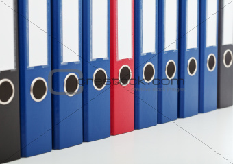 Business archive folders - closeup