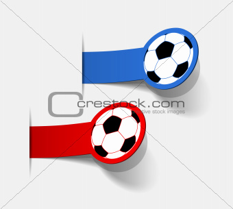 sticker with a picture of a soccer ball