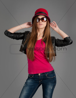 Portrait of young dancing girl