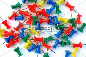 colorful push pins