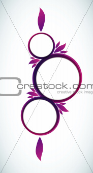 abstract circles background text frame vector illustration
