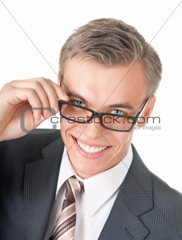 portrait of a successful manager in glasses