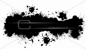 Grunge blot banner. Vector illustration for designers