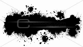 Grunge blot banner. Vector illustration for designers