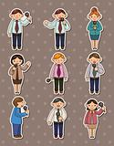 set of reporter people stickers