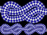 knotted blue ropes