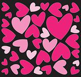 abstract pink hearts