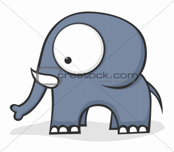 Big-eyed elephant