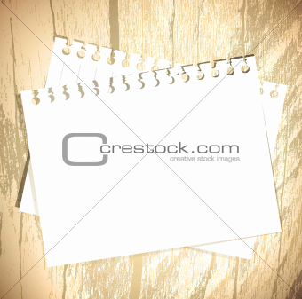 Template at wooden background 