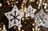 Artificial Snowflake in Silver