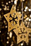 Artificial Snowflake in gold
