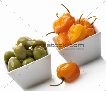 Yellow Pepper And Olives
