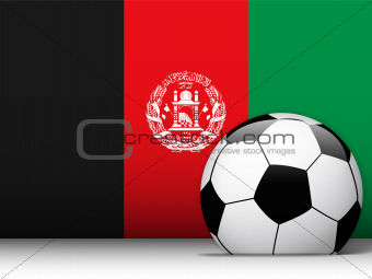 Afghanistan Soccer Ball with Flag Background