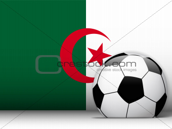 Algeria Soccer Ball with Flag Background