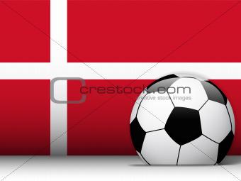 Denmark Soccer Ball with Flag Background