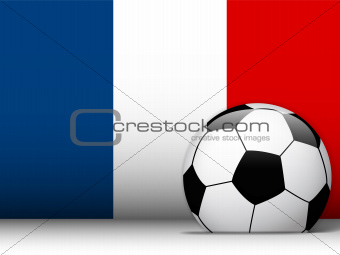 France Soccer Ball with Flag Background