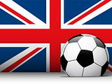 United Kingdom Soccer Ball with Flag Background