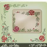 vintage floral corner decoration design set