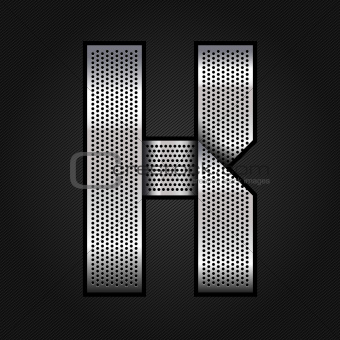 Letter metal chrome ribbon - K