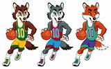 Basketball mascots.