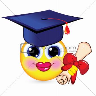 Cheerful smiley graduate