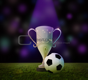 Cup and soccer ball