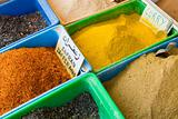 Colorful spices market in Gabes