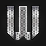 Letter metal chrome ribbon - W
