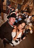 Couple in Old West Saloon