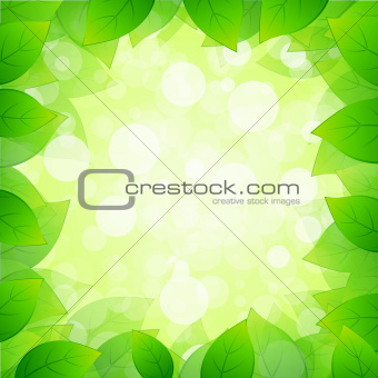 Green Framing with Leaves