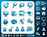 Icon set of internet