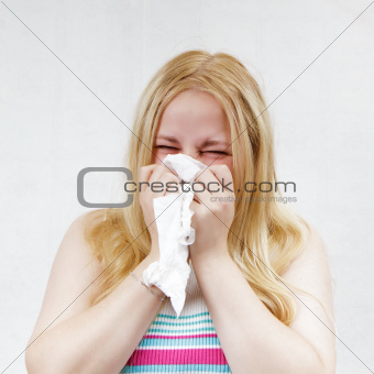 handkerchief blonde girl