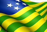 Flag of Goias, Brazil.