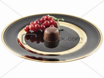 chocolate candy on a plate