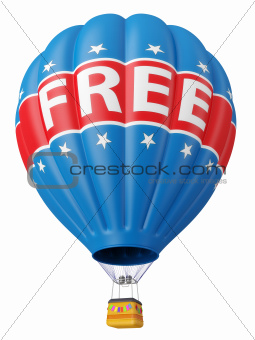 Balloon with an inscription free 3d