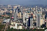 Aerial view at the Bangkok city