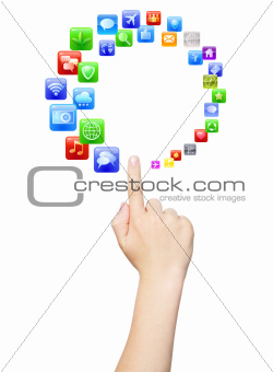 Touching circle of apps