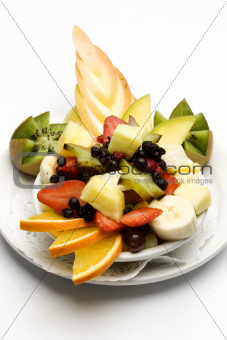 Assorted fruit in a bowl